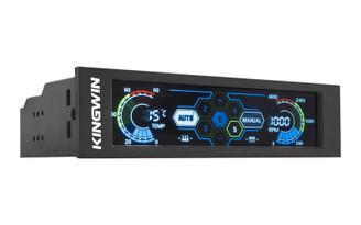 Kingwin FPX-007 5.25inch Bay Touchscreen LCD 5xCh Fan Controller/Temp Monitor
