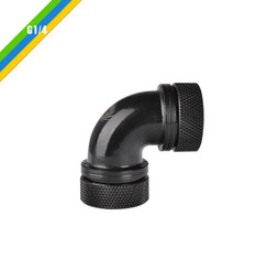 Thermaltake CL-W099-CA00BL-A Pacific G1/4 PETG Tube 90-Degree Dual Compression 16mm OD – Black