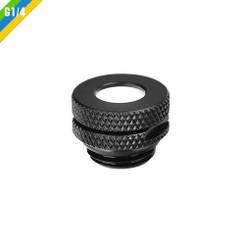 Thermaltake CL-W086-CU00BL-A Pacific G1/4 Pressure Equalizer Stop Plug w/ O-Ring - Black