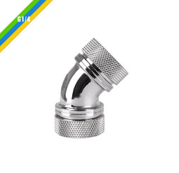 Thermaltake CL-W098-CA00SL-A Pacific G1/4 PETG Tube 45-Degree Dual Compression 16mm OD – Chrome