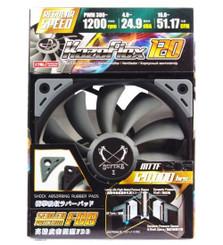 Scythe SU1225FD12M-RHP (1200RPM) Kaze Flex 120 PWM 120x120x27mm PWM Case Fan