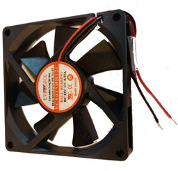 Evercool EC8015HH12C 80x80x15mm 12V DC Ball Bearing Fan, 2 Bare Wire