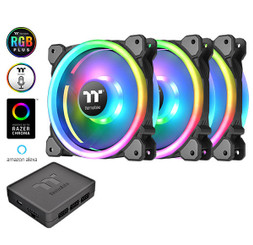 Thermaltake CL-F072-PL12SW-A Riing Trio 12 LED RGB Radiator Fan TT Premium Edition (3-Fan Pack)