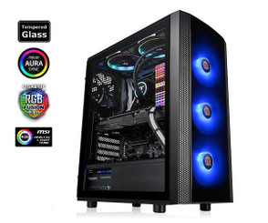 Thermaltake CA-1L8-00M1WN-01 Versa J25 Tempered Glass RGB Edition Mid-Tower Chassis