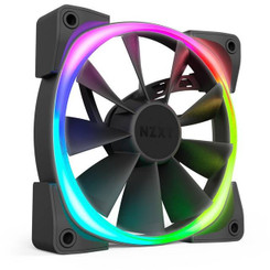 NZXT HF-2814C-D1 Aer RGB 2 Starter Kit D1 2x 140mm LED Case Fan with HUE 2 Controller