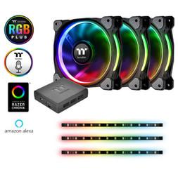 Thermaltake CL-F076-PL12SW-A Riing Plus 12 RGB Radiator Fan Lumi Plus TT Premium Edition Combo Kit