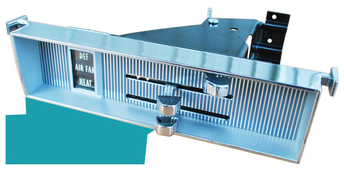 1969-72 GM truck heater control panel w/o AC