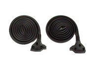 This seal mounts on the body with weatherstrip adhesive glue (not included). This is a pair for the left and right side. It's made from high quality ozone resistant EPDM rubber and comes with a lifetime warranty from Precision Replacement Parts. This kit fits 1969-72 Chevrolet Blazers and 1970-72 GMC Jimmys.