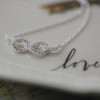 Sterling Silver Cubic Zirconia Infinity Necklace