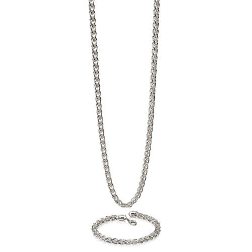 Fred Bennett Classic Heavy Spiga Link Silver Bracelet - 21cm - B4972