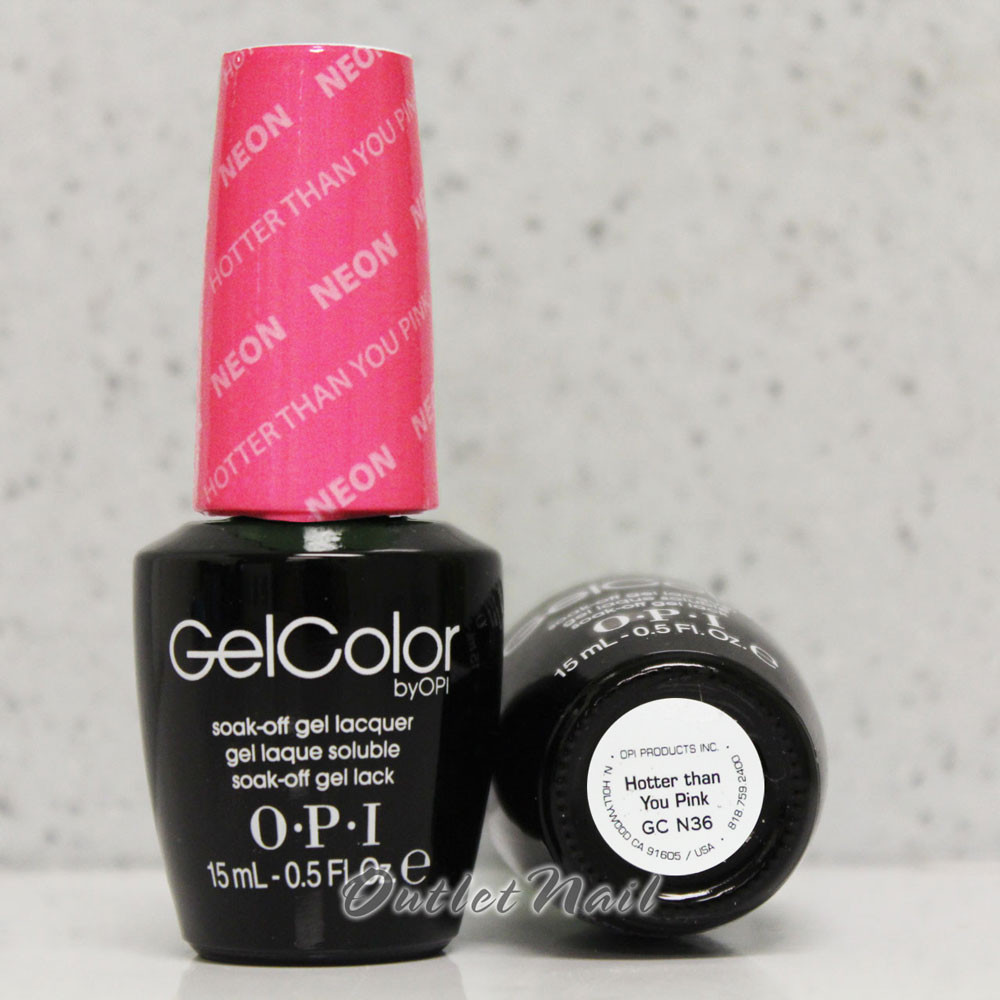 OPI GelColor HOTTER THAN YOU PINK GC N36 15ml 0.5oz Neon Collection ...
