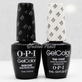 OPI GelColor Soak Off Gel Kit > BASE +TOP COAT 0.5oz DUO SET OF 2 GC 010 030