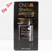 CND Shellac UV Gel Polish XPRESS5 TOP COAT 15 ml 0.5oz Express 5 Collection 90929