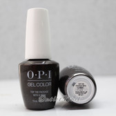 OPI GelColor TOP THE PACKAGE WITH A BEAU HP J11 15ml 0.5oz XOXO Holiday 2017 Collection UV LED Gel Nail Polish #HPJ11