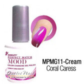 LeChat Perfect Match MOOD MPMG11 CORAL CARESS Color Changing UV LED Gel Polish