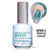 LeChat Perfect Match MOOD MPMG14 GLISTENING WATERFALL Color Changing UV LED Gel Polish