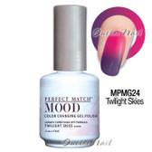 LeChat Perfect Match MOOD MPMG24 TWILIGHT SKIES Color Changing UV LED Gel Polish