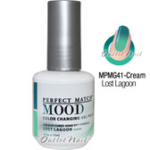 LeChat Perfect Match MOOD MPMG41 LOST LAGOON Color Changing UV LED Gel Polish