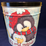"""""""Baby, It' cold outside"""" - 3.5 Gallon ARGIRES Gourmet Popcorn Large Gift Tin"""