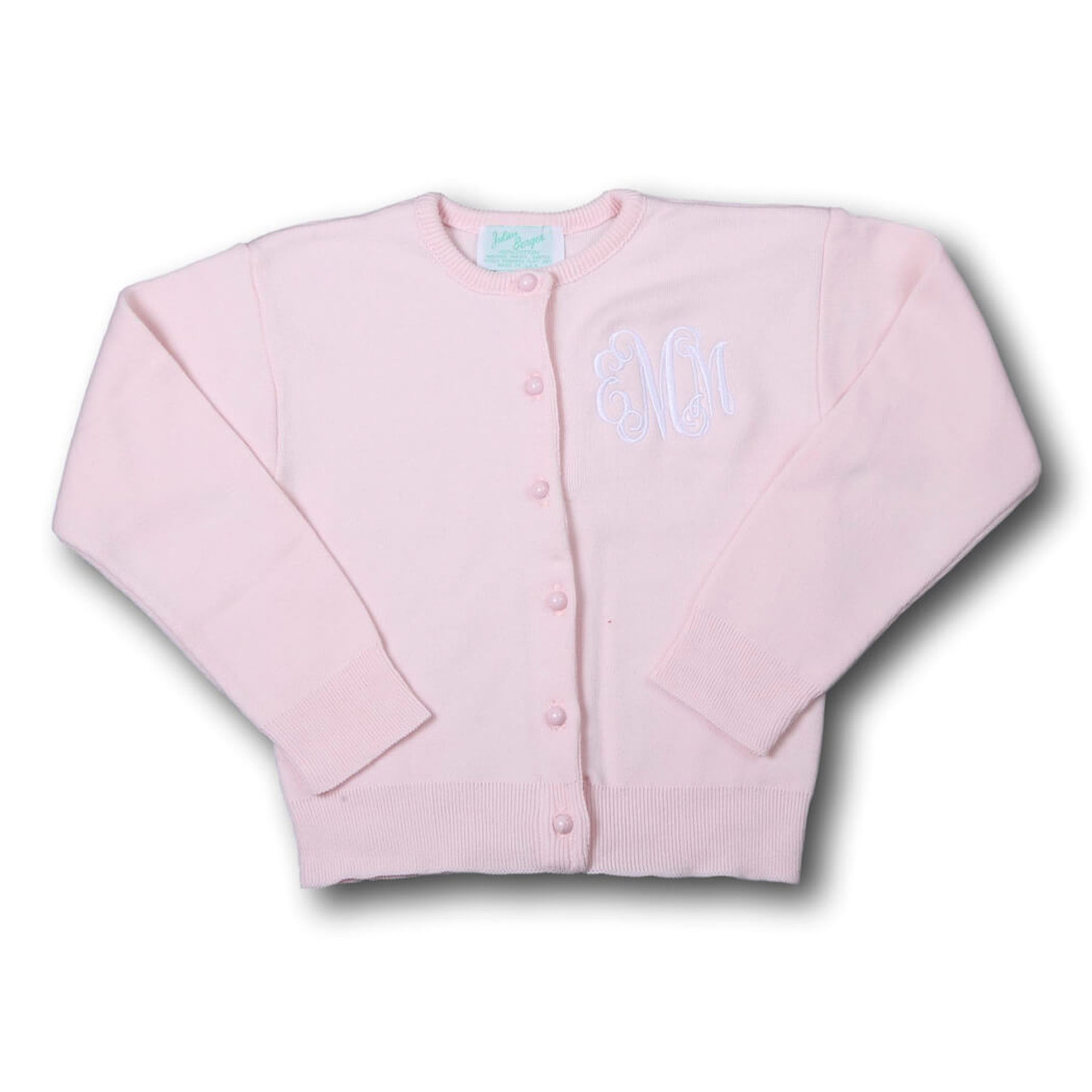 Girls Pink Sweater - Smocked Threads by Cecil & Lou