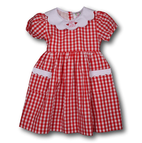 Red Check Dress with Pockets