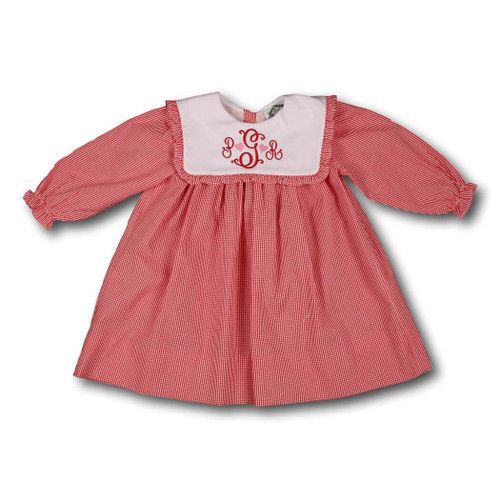 Red Gingham Dress by Cecil and Lou - Children's Monogrammed Valentine's Day Clothes
