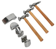 Sealey CB507 Panel Beating Set 7pc Drop-Forged Hickory Shafts