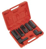 "Sealey SX032 Oxygen Sensor Socket Set 7pc 3/8"" & 1/2""Sq Drive"