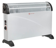 Sealey CD2005T Convector Heater 2000W 3 Heat Settings Thermostat Turbo Fan