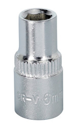 "Sealey S1406 WallDriveå¬ Socket 6mm 1/4""Sq Drive"