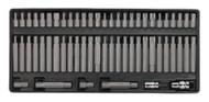 Sealey TBT11 Tool Tray with Security TRX-Star/Hex/Ribe/Spline Bit Set 60pc