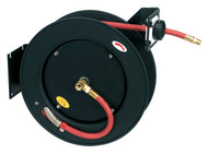 Sealey SA841 Retractable Air Hose Metal Reel 15mtr åø10mm ID Rubber Hose