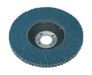 Sealey FD10080 Flap Disc Zirconium åø100mm 16mm Bore 80Grit