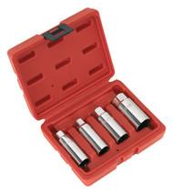 """Sealey AK6556 Spark Plug Socket Set 4pc 3/8""""Sq Drive"""