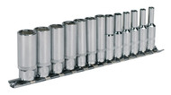 "Sealey AK2692 Socket Set 13pc 1/4""Sq Drive 6pt Deep WallDriveå¬ Metric"
