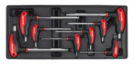 Sealey TBT06 Tool Tray with T-Handle Ball-End Hex Key Set 8pc