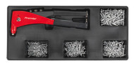 Sealey TBT15 Tool Tray with Riveter & 400 Assorted Rivet Set