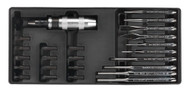 Sealey TBT18 Tool Tray with Punch & Impact Driver Set 25pc