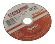 Sealey PTC/125CT Cutting Disc åø125 x 1.6mm 22mm Bore