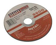 Sealey PTC/125C Cutting Disc åø125 x 3mm 22mm Bore