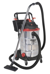 Sealey PC460 Vacuum Cleaner Wet & Dry 60ltr Stainless Drum 1600W/230V