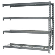 Sealey AP6572E Heavy-Duty Racking Extension Pack with 4 Mesh Shelves 640kg Capacity Per Level