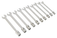 Siegen S0859 Flexi-Head Socket/Open End Spanner Set 10pc Metric
