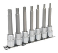 "Sealey AK6233 Ribe Socket Bit Set 7pc 3/8""Sq Drive 95mm"