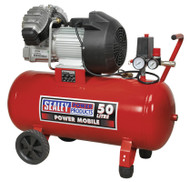 Sealey SAC05030 Compressor 50ltr V-Twin Direct Drive 3hp