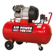 Sealey SAC10030 Compressor 100ltr V-Twin Direct Drive 3hp