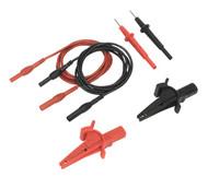 Sealey TATL Automotive Test Lead & Crocodile Clip Set 6pc