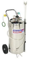 Sealey TP200S Air Operated Fuel Drainer 40ltr Stainless Steel