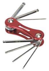 Sealey AK61314 Folding Ball-End Hex Key Set 7pc Metric
