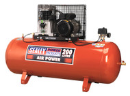 Sealey SAC2203B Compressor 200ltr Belt Drive 3hp with Cast Cylinders